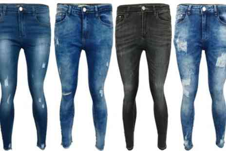 Groupon Goods Global GmbH - Ladies Ripped Skinny Fit Denim Jeans - Save 0%