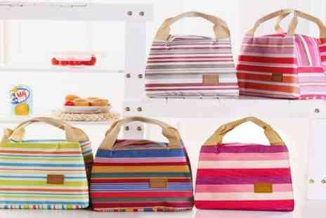 Groupon Goods Global GmbH - Up to Eight Striped Thermal Lunch Bags - Save 80%