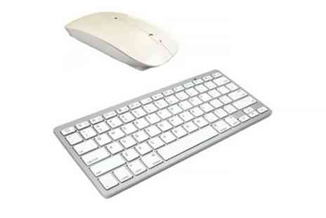 Groupon Goods Global GmbH - Wireless Mouse with Usb Dongle or Bluetooth Compact Keyboard - Save 0%