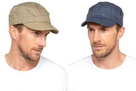 Groupon Goods Global GmbH - One or Two Mens Linen Caps - Save 0%