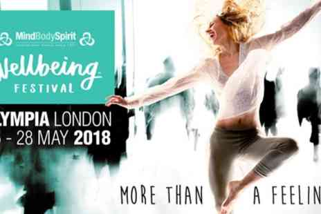 Mind Body Spirit - Two entry tickets to Mind Body Spirit Wellbeing Festival on 25 To 28 May - Save 54%
