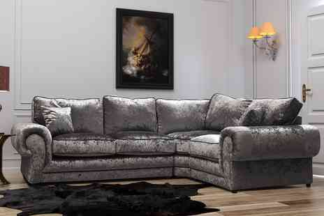 Groupon Goods Global GmbH - Madrid Medium or Large Corner Sofa With Free Delivery - Save 0%