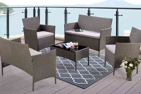 Groupon Goods Global GmbH - Five Piece Rattan Effect Lounge Sets With Free Delivery - Save 0%