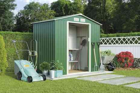 Groupon Goods Global GmbH - Apex or Pent Metal Garden Storage Sheds in Choice of Size With Free Delivery - Save 53%