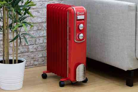 Groupon Goods Global GmbH - Swan Nine Fin Oil Filled Radiator With Free Delivery - Save 61%