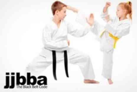 JJBBA Martial Arts - Nine Lessons of Childrens Karate Course Plus Uniform and First Belt Two - Save 85%