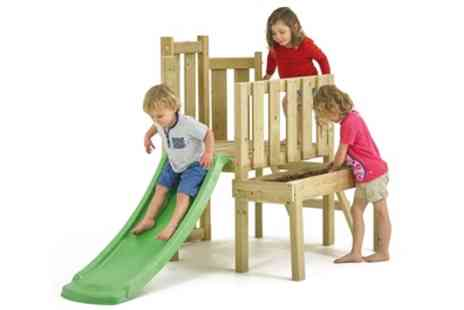 Groupon Goods Global GmbH - Tp Toys Wooden Climbing Frame with Slide and Sandpit With Free Delivery - Save 0%