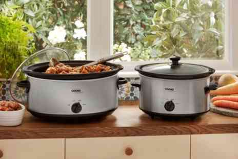 Groupon Goods Global GmbH - Cooks Professional Stainless Steel Slow Cooker in Choice of Size 3.5l and 6.5l - Save 60%