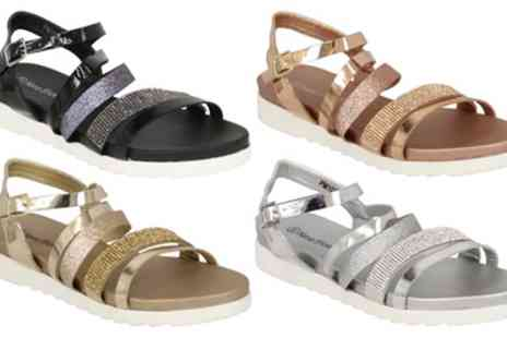 Groupon Goods Global GmbH - Womens Diamante Gladiator Sandals in Choice of Colour - Save 0%
