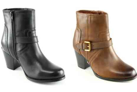 Groupon Goods Global GmbH - Manoukian Rose Womens Ankle Boots With Free Delivery - Save 0%