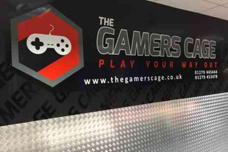 The Gamers Cage - One Hour Private Gaming Room Hire for Up to 12 or 16 People - Save 39%
