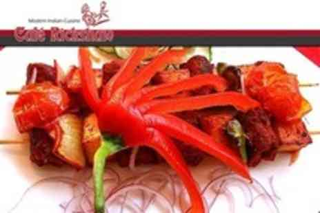 Cafe Rickshaw - Six Course Indian Meal For Four With Beer or Wine - Save 80%