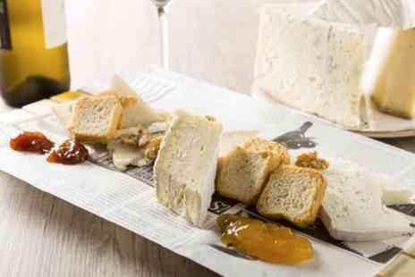 Pistachio and Pickle - Cheese Platter to Share Between Pairs with Glass of Wine Each for Two or Four - Save 44%
