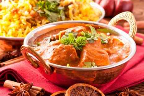 The Coriander - Two Course Indian Meal with Rice and Naan for Two or Four - Save 55%