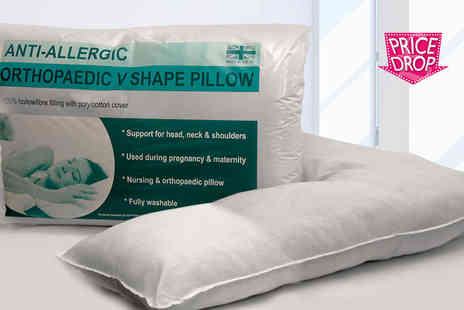 Direct Warehouse - Orthopaedic V shaped support pillow - Save 80%