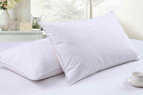 Direct Warehouse - Pack of four goose feather and down pillows - Save 87%