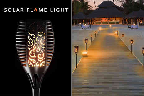 Buy Something - Solar powered flickering flame torch light - Save 65%