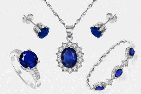 Gemnations - Blue crystal jewellery set - Save 0%