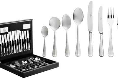 Groupon Goods Global GmbH - Viners Rattail 44 Piece Cutlery Set in Wooden Box with Free Delivery - Save 53%