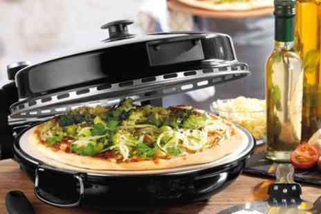 Groupon Goods Global GmbH - Giles And Posner EK2309 Bella Pizza Maker in Black with Free Delivery - Save 0%