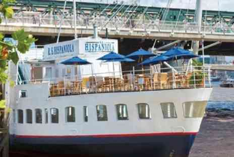 R S Hispaniola - Afternoon Tea with Prosecco and Thames Cruise Pass for Two or Four - Save 50%