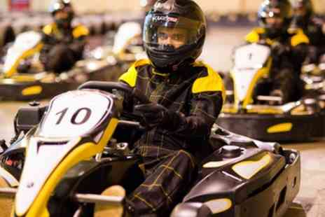 Absolutely Group - 30 Minute Karting Experience with Unlimited Laps and Pizza for Up to Six - Save 39%