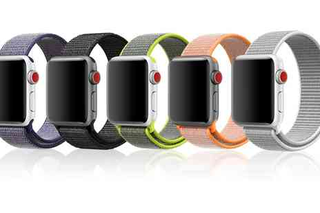Groupon Goods Global GmbH - Apachie Velcro Sport Strap for Apple Watch in Choice of Colour - Save 0%