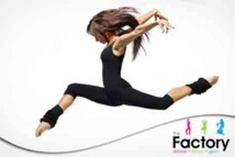 The Factory Fitness - Ten 60 Minute Dance Classes Such As Salsa, Street Dance or Ballet Fusion - Save 58%