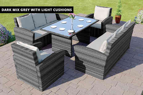 Abreo - Miami eight-seater garden furniture set - Save 66%