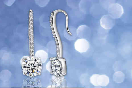 Your Ideal Gift - Simulated sapphire pendulum earrings - Save 92%