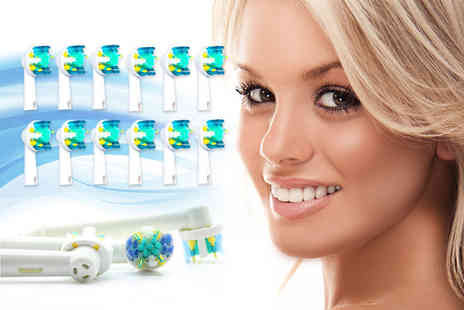 Ugoagogo - 12 Oral B compatible floss action toothbrush heads - Save 61%