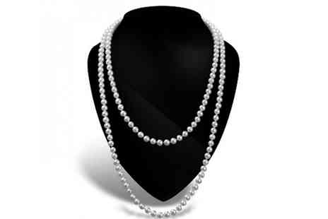 Your Ideal Gift - Faux Pearl Long Necklace - Save 83%