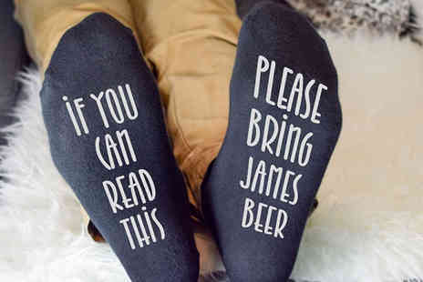 Personalised Gifts Market - Personalised Novelty Socks Available 3 Styles - Save 67%