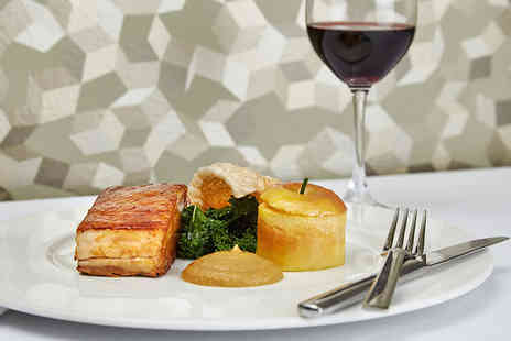 Podium Restaurant - Three course dining with a bottle of wine for two - Save 64%