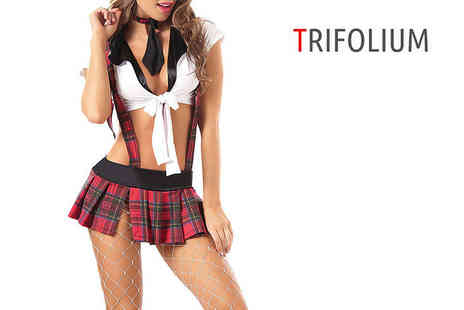 Trifolium - School playsuit with mini skirt - Save 58%