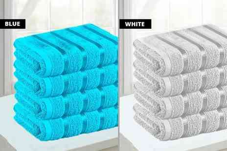 Groundlevel - Jumbo Egyptian cotton bath sheets choose from seven colours - Save 79%