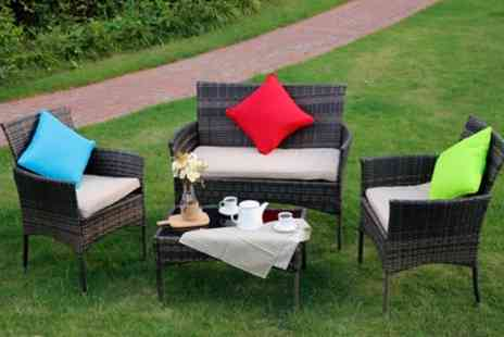 Groupon Goods Global GmbH - Eton Two or Four Seater Rattan Effect Lounge Sets With Free Delivery - Save 0%