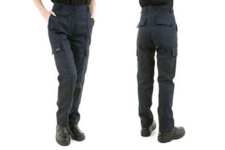 Groupon Goods Global GmbH - Womens Site King Cargo Work Trousers in Navy Blue - Save 0%