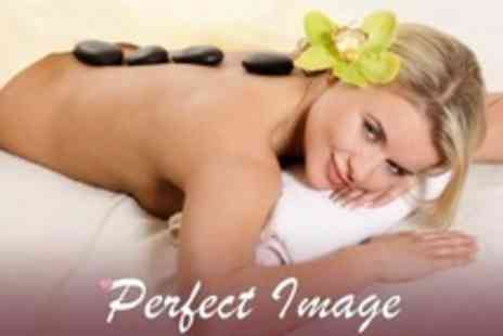 Perfect Image - Beauty Package With Hot Stone Massage, Dermalogica Facial and Manicure or Pedicure - Save 66%