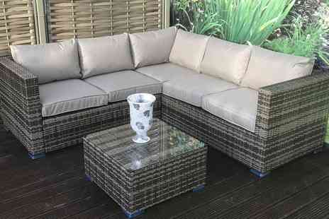 Groupon Goods Global GmbH - Georgia Rattan Effect Dining Sofa Set in Choice of Colour with Optional Cover With Free Delivery - Save 0%