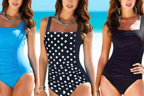 Groupon Goods Global GmbH - One or Two Womens Ruched Front Swimsuits - Save 0%