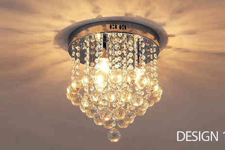 Mhstar - Crystal Glass Chandeliers in 4 Designs - Save 52%