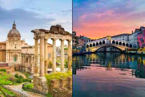 Tour Center - Four or six night Rome and Venice trip with train transfers and return flights - Save 31%