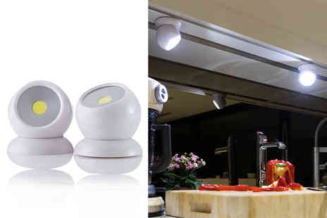 Ethome - Pack of two 360 Degree adjustable angle lights - Save 59%