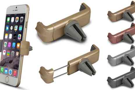 Groupon Goods Global GmbH - One or Two Car Vent Smartphone Holders in Choice of Colour - Save 75%