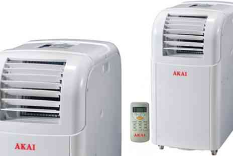 Groupon Goods Global GmbH - AKAI ACP9100 Portable Air Conditioner With Free Delivery - Save 40%