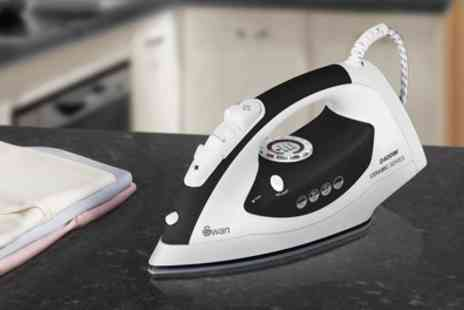 Groupon Goods Global GmbH - Swan Ceramic Soleplate Iron 2400W - Save 70%