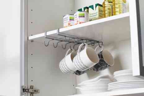 Groupon Goods Global GmbH - One or Two Under Shelf Cup and Mug Holder Racks for Cupboard - Save 62%