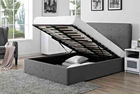 Groupon Goods Global GmbH - Verona Fabric Storage Ottoman Bed with Optional Mattress With Free Delivery - Save 87%
