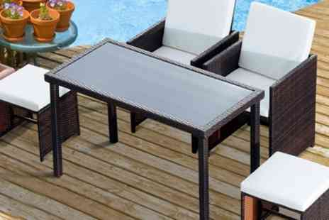 Groupon Goods Global GmbH - Outsunny Rattan Effect Dining Set With Free Delivery - Save 0%